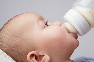 baby drinking bottle
